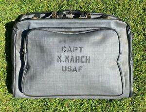 USAF 1950's VINTAGE FLIGHT BAG CAPT M. MARCH .SIMILAR TO WARTIME B4. ORIGINAL