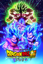 Dragon Ball Super Movie Poster Broly Gogeta Goku Vegeta 12inx18in Free Shipping