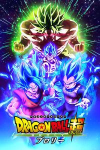 Dragon Ball Super Movie Poster Broly Gogeta Goku Vegeta 12inx18in Free Shipping
