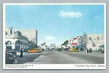 Calle Revolucion TIJUANA Baja California~Revolution Avenue Cars Signs 1950s