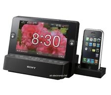 """Sony ICF-CL75iP 7""""LCD Picture Frame Alarm Clock FM Radio iPhone iPod Dock USB SD"""