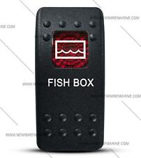 Labeled Contura II Rocker Switch COVER ONLY, Fish Box (Red Window)