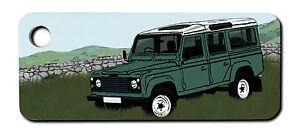Personalised Land Rover Defender Keyring