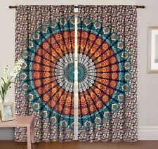 Wall Hanging, Home Door Window Curtain Door Drapes, 2 Panels Mandala Curtain