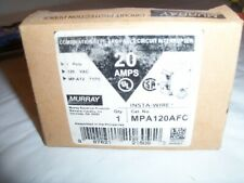 1- Murray Mpa120Afc 20 Amp 1- Pole Combination Arc Fault Circuit Breaker