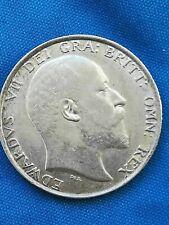 1902 Edward V11 Silver Shilling - very fine coin