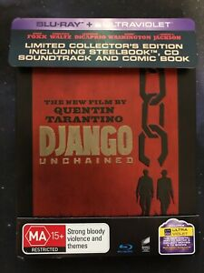 Django Unchained Limited Collector's Edition Steelbook Blu-ray LIKE NEW