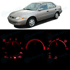 Full Kit AC Heating Climate Control Red LED Lights for 1998-2000 Toyota Corolla