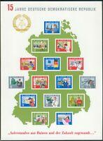 """DDR Block 19(*) """"15 Jahre DDR"""" (MICHEL EURO 65,00) feinst/pracht"""