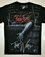 PINK FLOYD T-Shirt RARE Embroidered Logo The Wall Dark Side Moon Roger Waters