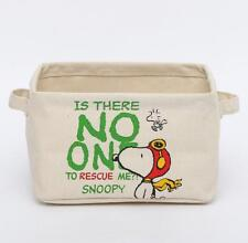 Snoopy Peanuts Canvas Home Folded Storage Box Glove Box Makeup Box Case Holder