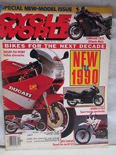 Cycle World Magazine December 1989 Ducati 750 Sport Italian Alternative