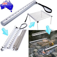AU Portable Outdoor Camping Folding Barbecue Grill BBQ Charcoal Cook Rack NSW