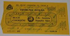 old TICKET EC Ruch Chorzow Poland - Austria Wien 1998