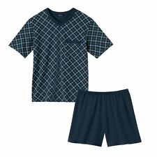 Schiesser Pyjama  Schlafanzug dunkelblau kurz Größe S/48 exklusiv Preisknaller