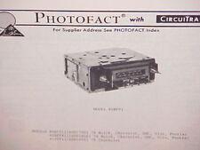1978 CHEVROLET CORVETTE CAMARO PONTIAC FIREBIRD GMC AM-FM RADIO SERVICE MANUAL
