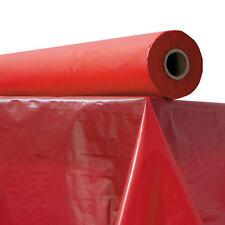 "Atlantis Plastics Plastic Table Cover 40"" x 300 ft Roll Red 2TCR300"