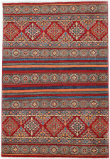4x6 Hand-Knotted Kazak Carpet Tribal Red Fine Wool Area Rug D57159