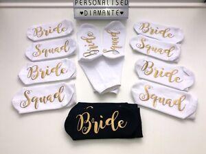 Bride socks bridesmaid socks personalised socks wedding gift