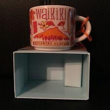 Starbucks Hawaii Waikiki Ornament Been There Series Demitasse Mini Mug W Box NEW