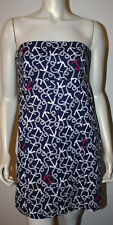LILLY PULITZER Navy White Pink Nautical Bowen Dress 6 Anchor Rope