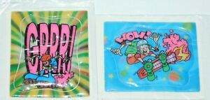 VTG 90's Cereal Premium Puffy Stickers Lot of 2 Skateboard Rollerblade Skate NOS