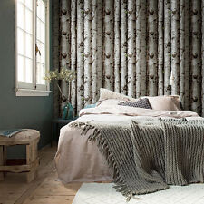 Modern Birch Tree Wallpaper Rolls PVC Waterproof Home Decor Forest Woods Paper