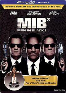 Men In Black 3 (MIB 3) 3D Collector's Edition SteelBook w/Worm Figurine (Czech)