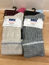 M&S Ladies thermal socks with Wool and Silk 4 Pairs Marks & Spencer 3-5 New