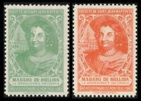 "CANADA SSJB 1941 SEAL ""MADAME De BULLION (1593-1662)"" CPL SET 2 CINDERELLA CV $4"
