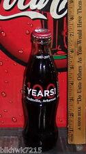 2011 NASHVILLE ARK COCA COLA  BOTTLING COMPANY 100TH ANNIVERSARY 8OZ COKE BOTTLE