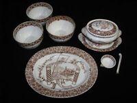 "Group of Copeland English Ironstone Aesthetic ""Cairo"" Pattern"