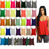 Womens Ladies Style Camisole Cami Plain Strappy Swing Vest Top Flared Sleeveless