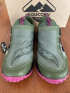 Saucony Women's Switchback 2, Olive/Fuschia, New* Ships Free SRP $140 now $99.99