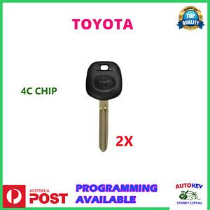 TOYOTA TRANSPONDER CHIP KEYS - CHIP ID4C KEYWAY TOY43