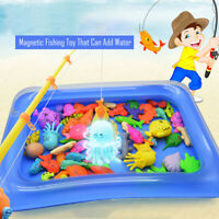 15-48PCS Bath Toys For Kids Fishing Magnetic Toys Floating Fishing Game