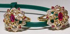 New 1991 $1195 Franklin Mint Stuart Devlin Ring 24 Diamonds 7 Rubies 14K Sz 8.5