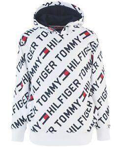 $44 NEW NWT TOMMY HILFIGER BOYS PULLOVER HOODIE SWEATSHIRT SIZE 4 5 6 7