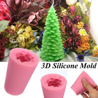 3D Christmas Tree Candle Baking Chocolate Soap Silicone Craft DIY Mold Crafts,