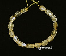 "16 Citrine Nugget Faceted Beads ap.8x12mm 7.75"" #62024"