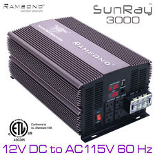 3000/6000 Watts Pure Sine Wave Power Inverter 12V DC to 115V 60Hz AC RV Solar