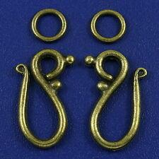 20sets bronze tone hook toggle clasps h3164