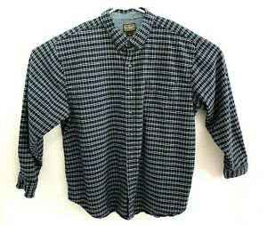 CE Schmidt Workwear Men's 2XL Long Sleeve Navy Button Down Plaid Work Shirt
