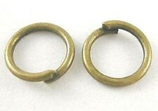 100 x 10mm Antique Bronze Jump Rings - 1mm - Iron Closed Unsoldered