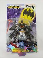 DC Comics Deluxe STEALTH ARMOR BATMAN Action Figure w/ Accessories 2003 Mattel