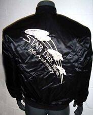 Star Trek 25th Anniversary Embroidered Satin Finish Jacket-Size Medium- Free S&H