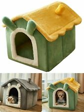 Pet House Dog Bed Semi-Enclosed House Cat Home With Blanket Removable Washable