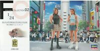 Hasegawa 1/24 FC02 (29102) 90's Platform Boots Girls Figure (2 Figures)