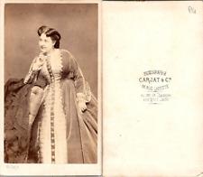 CDV Carjat, Paris, actrice, Madeleine Brohan, comédienne, circa 1865 Vintage CDV