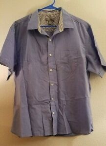Geoffrey Beene Men's Slim Fit Easy Care Short Sleeve Button Down Shirt, X-Large